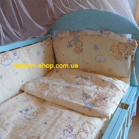 Бантик - набор постельного белья в кроватку с 7 предметов