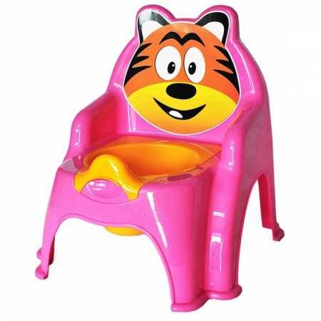 Тигренок - детский горшок-стульчик с удобной спинкой и съемным сидением