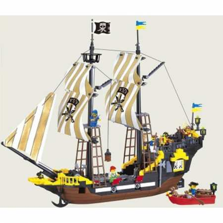 """BRICK 307 - """"Пиратский корабль""""  - сюжетно-ролевой конструктор"""