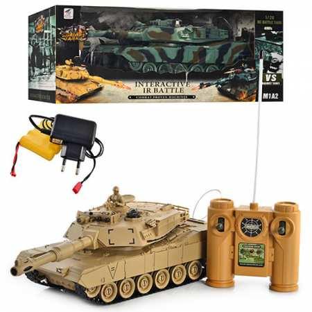 Танк 99803-4 - боевой танк на р/у с имитацией выстрелов и световыми эффектами