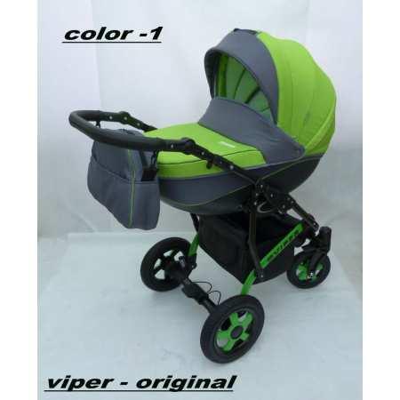 Viper - новая, современная модель коляски 2в1 с большой пластиковой люлькой