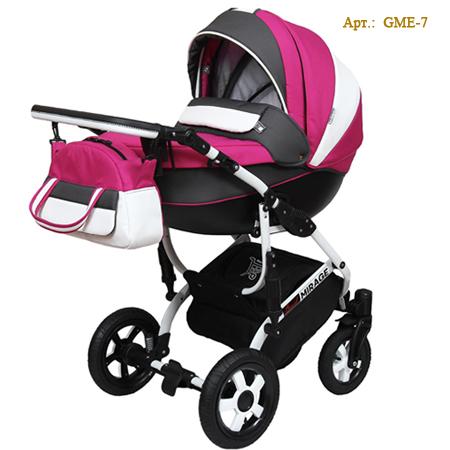 Детская коляска Grand Mirage Elegant - новая модель коляски 2 в 1 с большой люлькой и прогулочным блоком