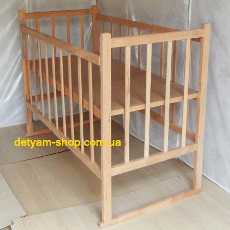 Малыш детская нелакированная кроватка