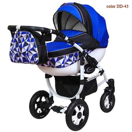 Детская коляска 3в1 - Discovery Domingo -яркая и легкая модель с автокреслом