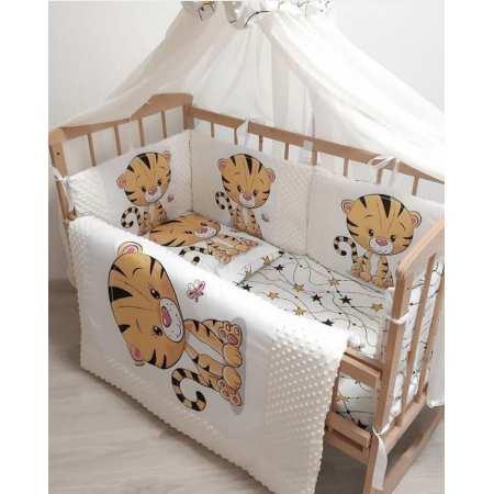 Набор постельного белья Тигренок с бортиками-подушечками и цифровым принтом