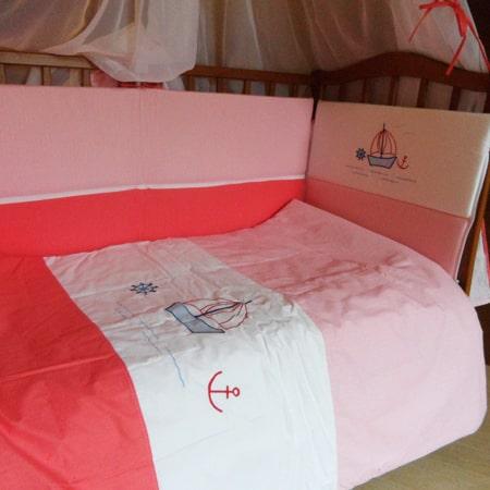 Набор постельного белья Кораблик в детскую кроватку с 8 предметов