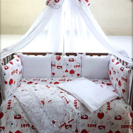 Love - набор постельного белья с бортиками-подушечками