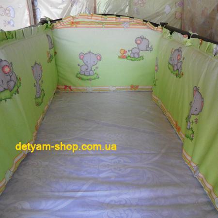 Малятко раздельная плотная защита в детскую кроватку 120*60