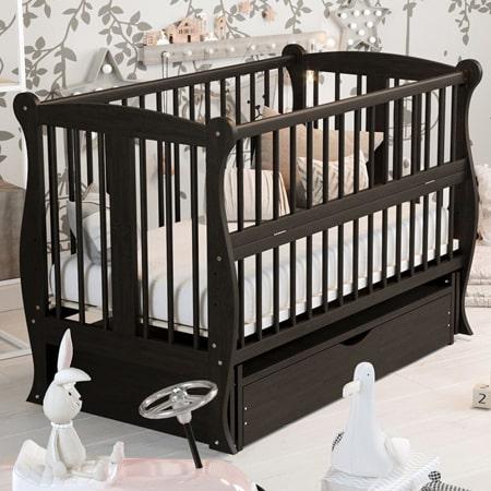 Детская элегантная кроватка Грация венге