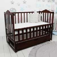 Детская кроватка Карпаты-люкс орех с ящиком