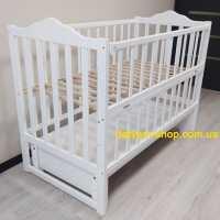 Детская кроватка Карпаты-люкс белая