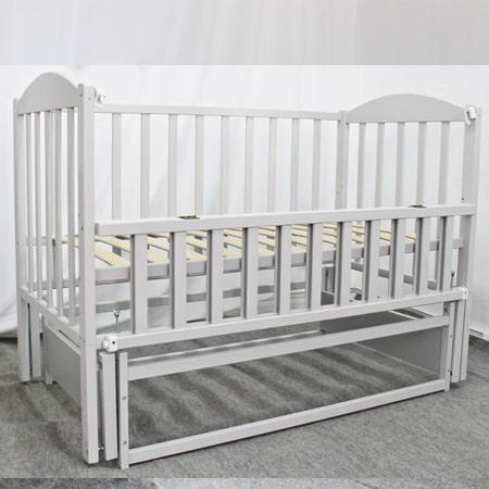 Модель детской кроватки Smile (Смайл)  на шарнирах со стопором и на ортопедических ламелях