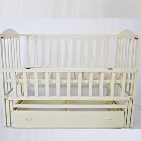 Детская кроватка Smile-2 (Смайл-2)  на шарнирах со стопором и закрытым ящиком