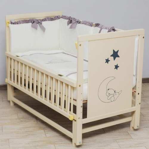 Детская кроватка Мишка на месяце