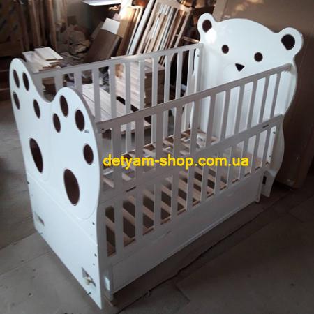 Панда - модель оригинальной детской кроватки с изображением панды