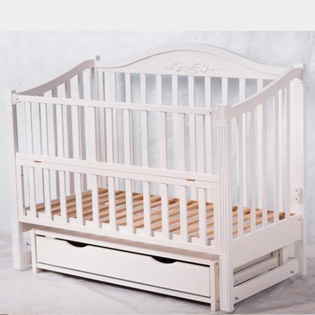 Верона - изысканная кроватка-диванчик с закрытым ящиком на шарнирах (бук)