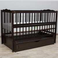 Детская кроватка Веселка-люкс венге с ящиком