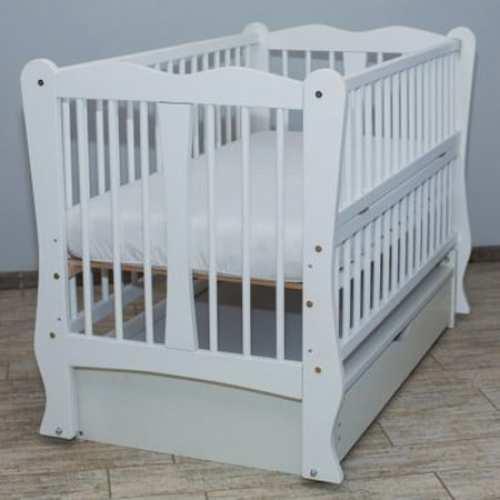 Детская кроватка Каролина белая