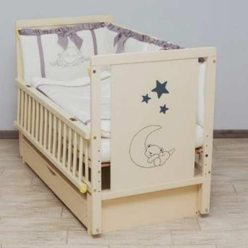 Детская кроватка Мишка на месяце 2