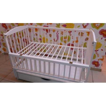 Детская кроватка Веселка-люкс белая с ящиком