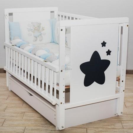 Детская кроватка Звездочка с ящиком и маятниковым механизмом