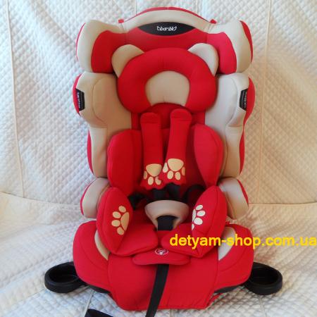 Мишка 3653 - универсальная модель автокресла с усиленной боковой защитой и подстаканниками от 9-36 кг