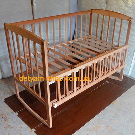 Детская кроватка Гойдалка-2 детская нелакированная буковая кроватка