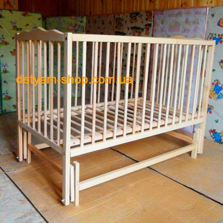 Веселка-1 -  кроватка на шарнирах с подшипником и 3 уровнями днища