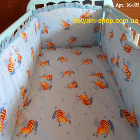 Мини набор постельного белья в кроватку с 4 предметов