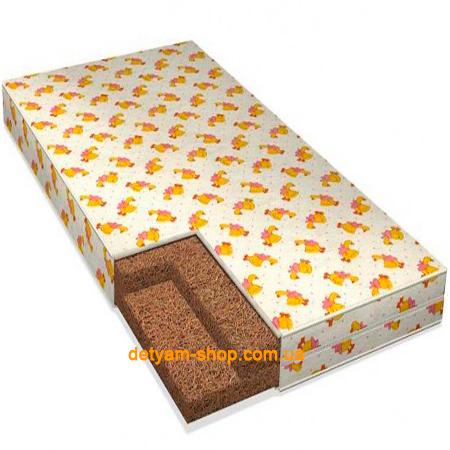 Комфорт 5 слоев - кокосовый матрац в бязевом чехле, 120*60