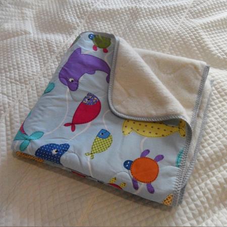Одеяло шерстяное двухстороннее, 110*145