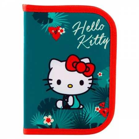 Пенал твердый, одинарный с отворотом без наполнения - Hello Kitty