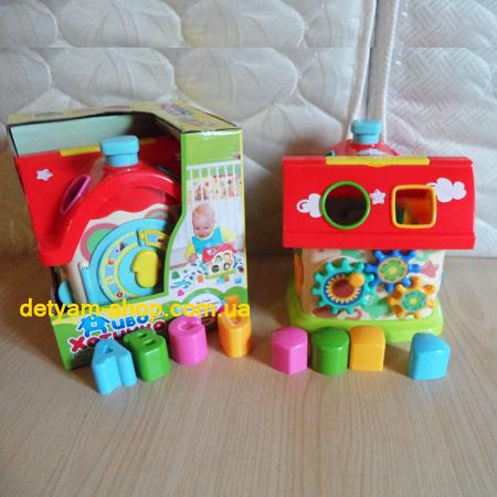 Чудо-домик - развивающая игрушка-сортер