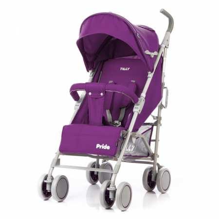 TILLY Pride - детская коляска-трость с чехлом на ножки, подстаканником и 3-мя уровнями наклона спинки