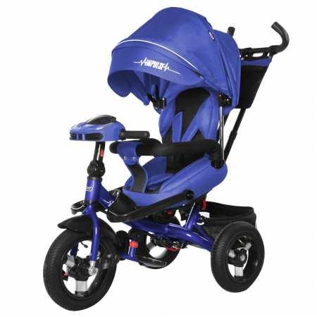 TILLY Impulse с пультом - трехколесный велосипед-коляска с надувными колесами и поворотным сидением