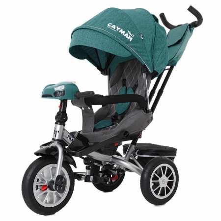 Cayman Len с пультом - модель стильного велосипеда с надувными колесами, мягким поворотным сиденьем и большим капюшоном.