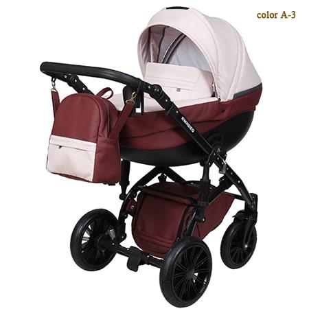 Детская коляска 2в1 Amadeo - это новейшая модель с богатой комплектацией, обшита брендовой тканью а пастельных тонах.