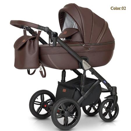 Verdi Mocca Eco 3в1 - универсальная модель коляски с эко-кожи и системой EASY CLICK