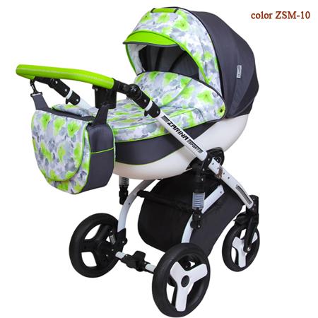 Детская коляска Zarina Sport Malibu - инновационная, стильная, комфортная коляска 2 в 1 с цветочным принтом