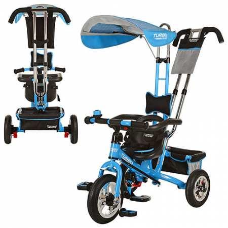 Турбо-трайк трехколесный велосипед с родительской ручкой