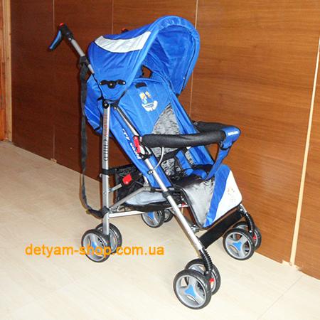 Sigma BYW 313 легкая коляска-трость с большим капюшоном и теплым чехлом на ножки