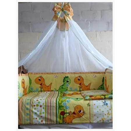 Динозаврики - набор постельного белья в кроватку с 8 предметов