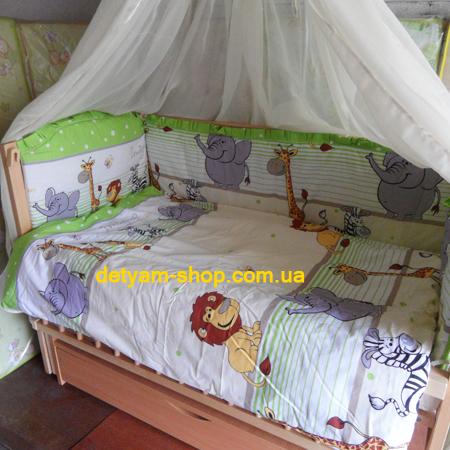 Джунгли - набор постельного белья в кроватку с 8 предметов