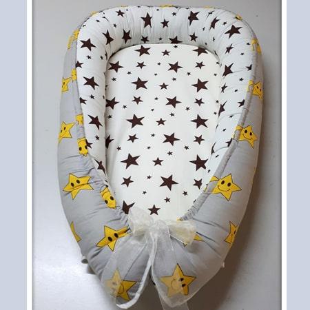 Кокон 091 - гнездышко для комфортного сна мамы и малыша с матрасиком  и на завязках