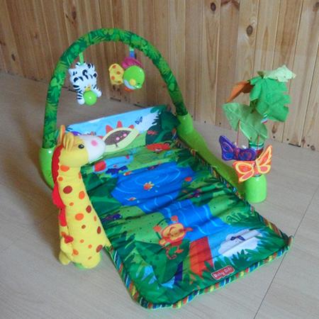 Жираф - музыкальный развивающий коврик со съемной дугой