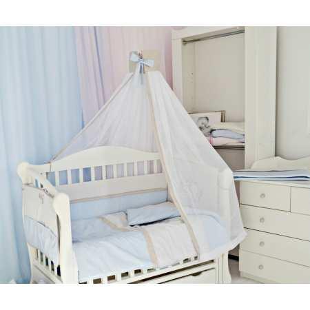 ТЕДДИ  с ящиком - элегантная детская кроватка на шарнирах (бук)