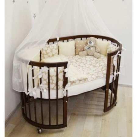 Каприз 7в1 - детская кроватка-трансформер - круглая и овальная