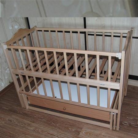 Карпаты-люкс - детская кроватка на шарнирах с деревянным закрытым ящиком