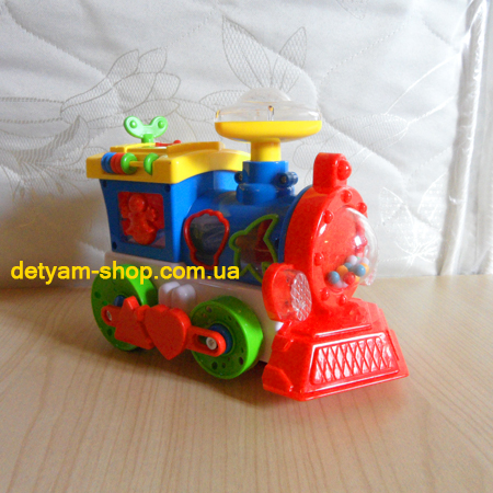 Паравозик-сортер - музыкальная развивающая игрушка