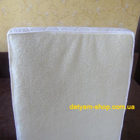 Зима-Лето - двухсторонний матрац с овчиной в детскую кроватку, 120*60